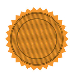 silhouette with circular frame and sawtooth vector image vector image
