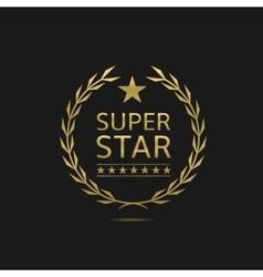 Super star badge vector image
