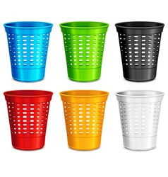 trash waste basket vector image vector image
