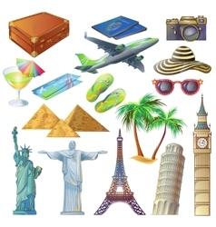 Travel Sights Set vector image vector image