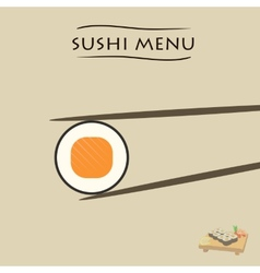 various pieces of Sushi vector image vector image