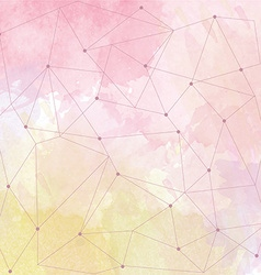 watercolor background with triangle design vector image vector image