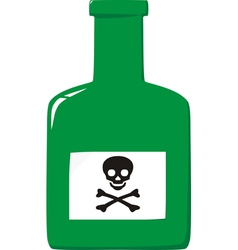Green poison bottle vector