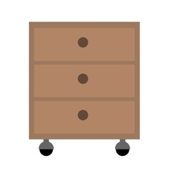 Office cabinet drawers vector