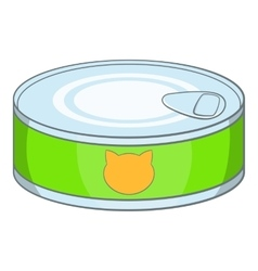 Canned food for cat icon cartoon style vector image