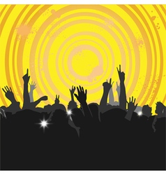 Crowd at a concert 3 vector