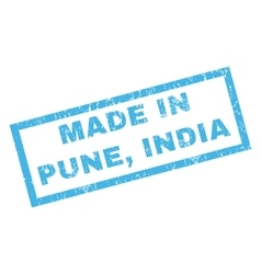 Made In Pune India Rubber Stamp vector image