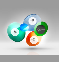 Circle banner template vector