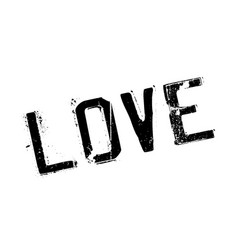 love rubber stamp vector image