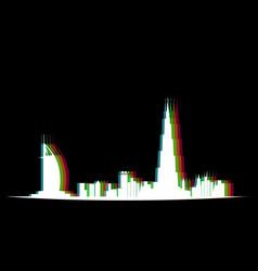 isolated dubai cityscape vector image