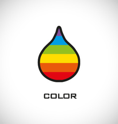 Colorful water drop icon vector