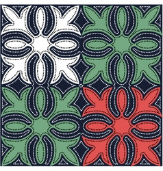 Hawaiian quilt pattern vector