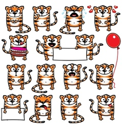 Smiley tigers vector