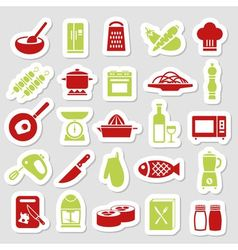 Cooking stickers vector