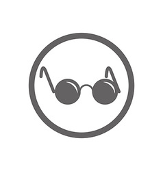 Glasses with black round lenses icon isolated vector