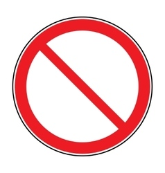 Sign no crossing vector