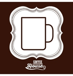 Coffee house design vector