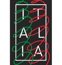 Italy italia graphic typography design vector