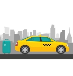 Taxi car flat styled vector