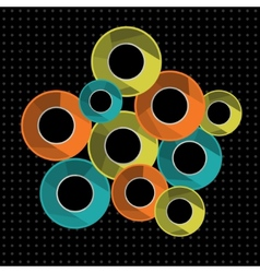 Abstract background with colorful rings vector