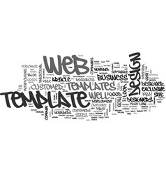 Are web templates worth it text word cloud concept vector