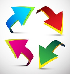 Arrows Colorful 3D Arrows Set Isolated on L vector image vector image