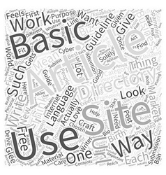 Basic Guideline about Article Directories Word vector image vector image