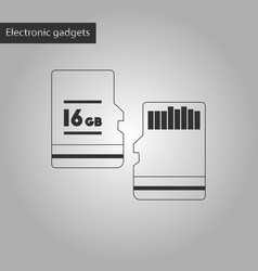 Black and white style icon micro sd vector