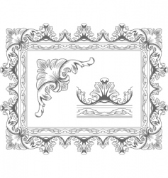 Classic frame vector