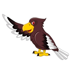 Cute Eagle cartoon posing vector image vector image
