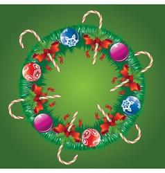 Decorated christmas wreath3 vector