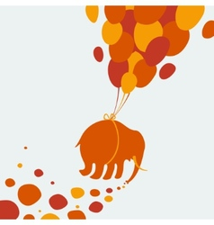 Elephant flying through the sky vector image vector image