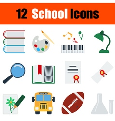 Flat design education icon set vector image vector image