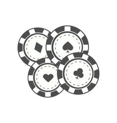 Gambling chips in flat design vector