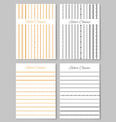 Gold and silver chains posters vector