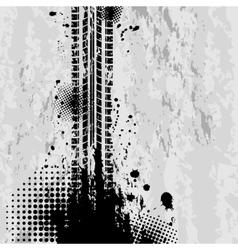 Grunge tire tracks background vector