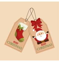 Happy merry christmas socks vector