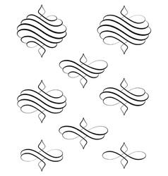 Helical swirl bis vector image vector image