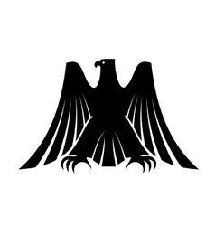 Imperial eagle with long trailing wing feathers vector image vector image
