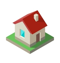 Isometric house icon logo vector