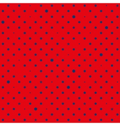 Red navy blue star polka dots background vector