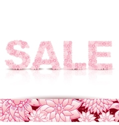 Sale concept background word sale made of pink vector