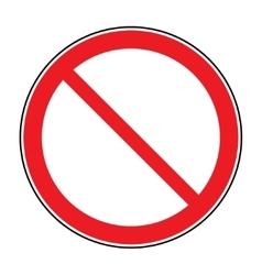 sign no crossing vector image