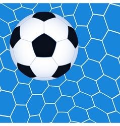 Soccer ball in the net vector