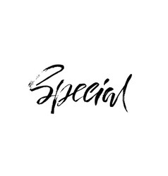 special design ink handwritten lettering modern vector image vector image