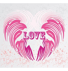 vintage heart shape background vector image