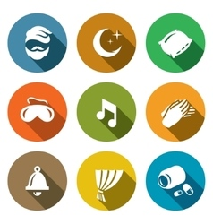 Set of sleep and night rest icons man vector