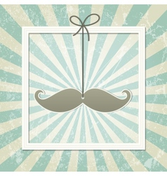 Mustache retro background vector image
