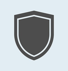 Icon of shield defense protection or safety symbol vector