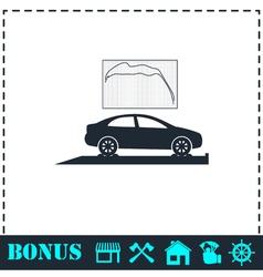 Car diagnostics icon flat vector